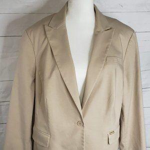 Calvin Klein Khaki Tan Blazer Jacket sz 2X